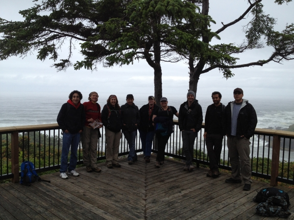 '12 cohort at Cape Perpetua National Seashore