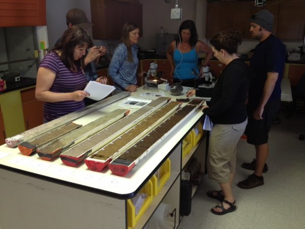 '12 cohort at the CEOAS Sediment Core Repository